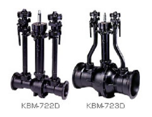 GM II type ductile cast iron ball valve (with dissipation tube)