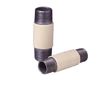 VI nipple (steel pipe with rigid PVC-coated outer surface)