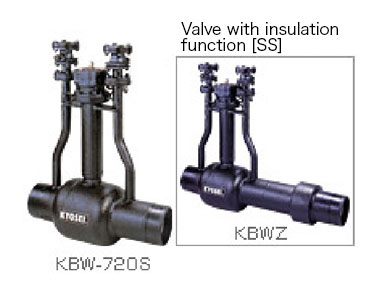 Full-welding type direct-buried steel valve [SS type]