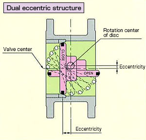 Dual eccentric structure
